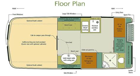 vehicle floor plan earthroamer xv lts f 550 road rv roaming times