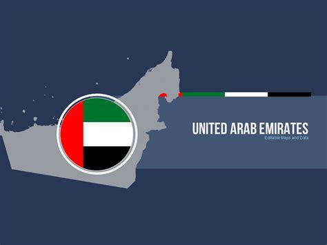 powerpoint templates uae united arab emirates editable map presentation by