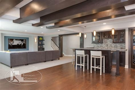 basement home theater and bar contemporary