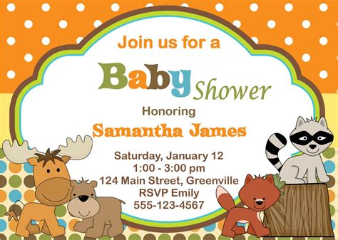 Theme Free Printable Baby Shower Invitations Templates For Boys Free Printable Safari Baby Shower Invitation Templates