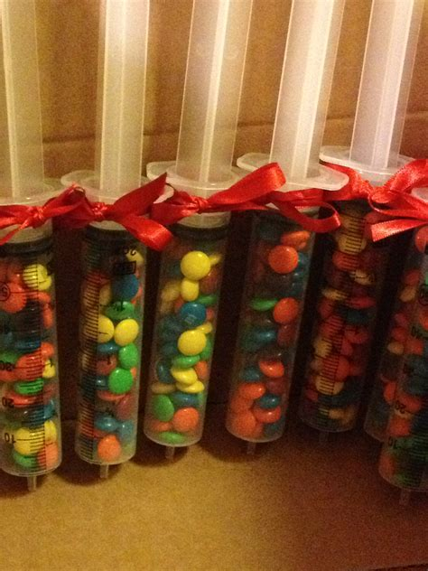 christmas gifts for nursing home employee m m filled syringes doctors day luncheon favors lmgcreation
