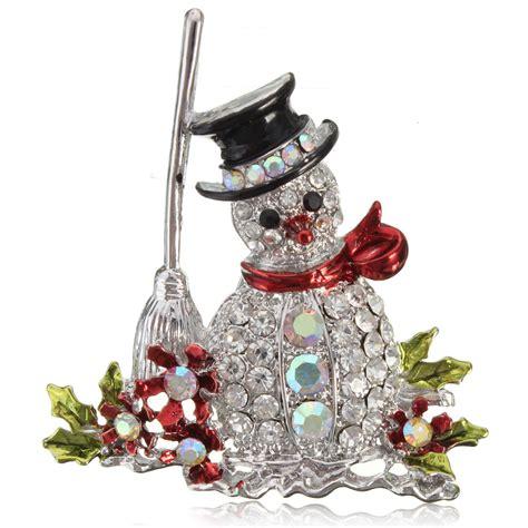 crystal rhinestone jeweled christmas bell xmas snowman
