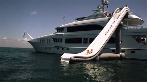 boat r videos freestyle cruiser inflatable water slide for yachts video
