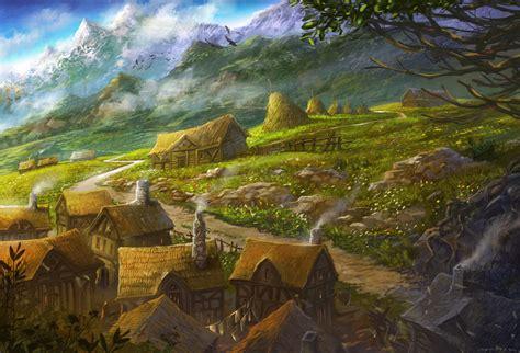 deviantart painting gondorian hamlet by sabin boykinov on deviantart