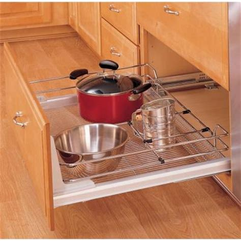 rev a shelf premiere x large pull out chrome basket 5330