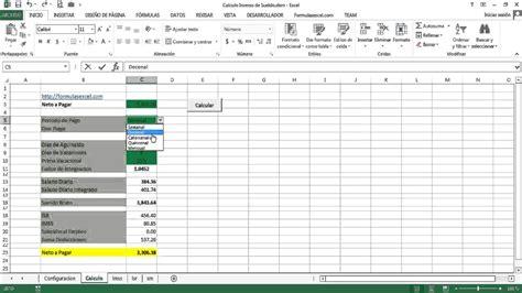 calculo de sueldo quincenal calculo inverso de sueldo en excel youtube