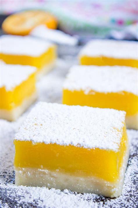 Easy Lemon Bars (5 Ingredients!) - Dinner, then Dessert Lemon Dessert Bars