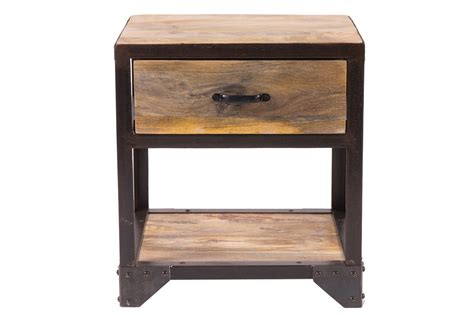 style bedside tables industria industrial style bedside table miliboo