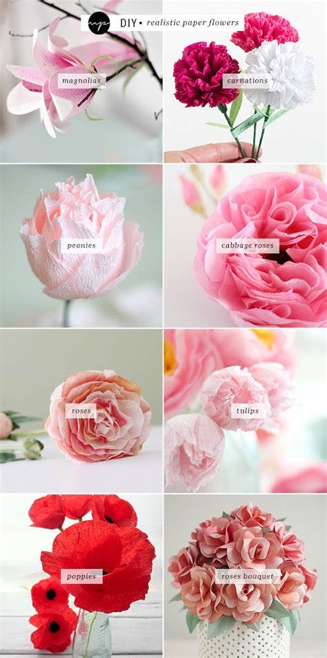 How To Make Realistic Paper Flowers - diy realistic paper flowers my paradissi bloglovin