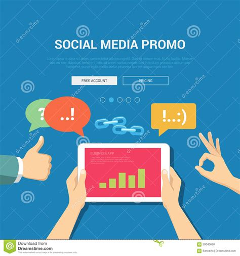 Social Media Promo Banner Template Stock Vector Image 59040620 Social Media Banner Templates Free