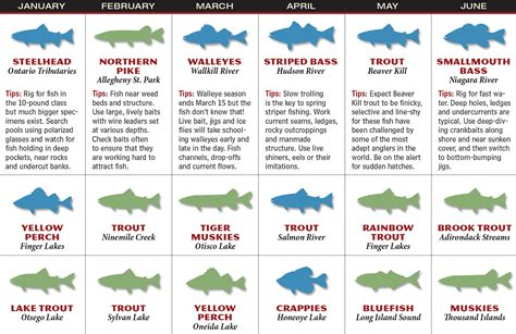 Fish Calendar 2017 New York Fishing Forecast Fish