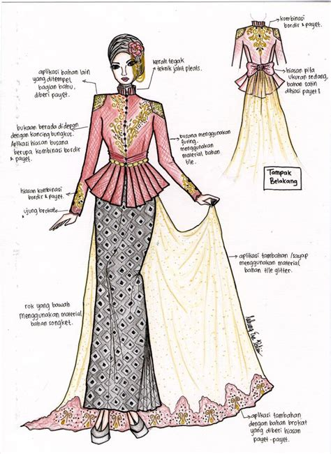 P O Selinam Batik the graceful kebaya all my sketch the o