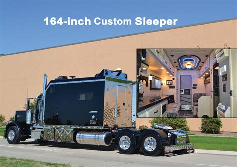 Big Rig Sleepers by Peterbilt 379exhd 164 Inches Custom Sleeper Peterbilt