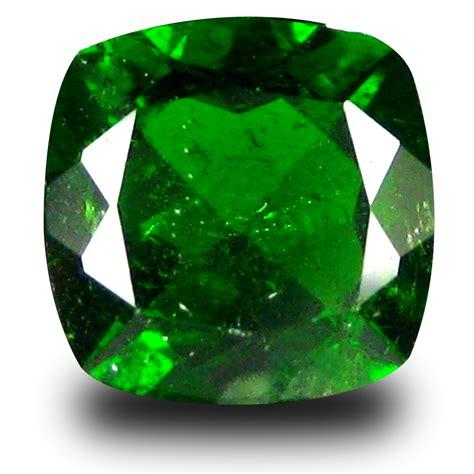 Green Diopside 2 70 ct cushion shape 8 x 8 mm green chrome