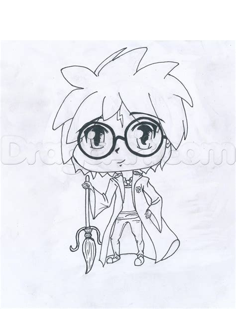 harry potter chibi coloring page harry potter chibi harry step by step chibis draw