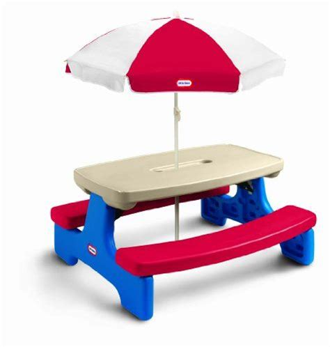 tikes easy store picnic table with blue umbrella best 25 picnic table with umbrella ideas on