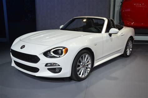 new fiat 124 spider shines from the l a auto show floor