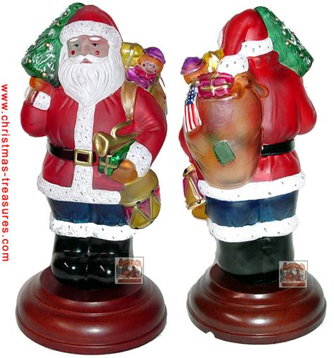 old world christmas patriotic santa night light 1996 529733