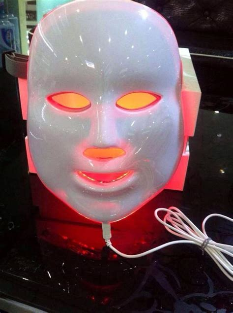 Topeng Pdt Led Mask 7in1 jmf 7in1 photon mask led light therapy skin treatment photodynamics pdt ebay