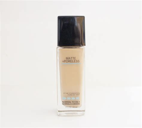 by maybelline review maybelline fit me matte poreless foundation