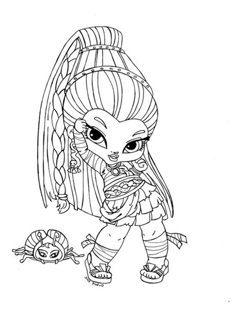 baby monster high dolls coloring pages monster high baby coloring pages baby nefera de nile