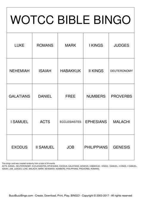 Bible Bingo Printable