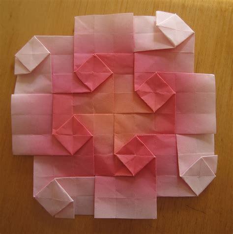 Origami Squares - origami square tessellation