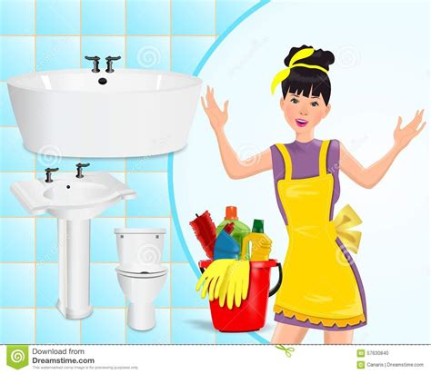 wash the bathroom cleaning concept stock illustration image of bathroom