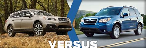 compare subaru forester models 2016 subaru forester vs 2016 subaru outback model
