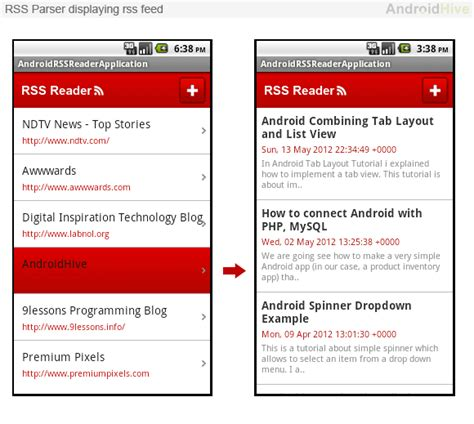 tutorial android rss reader 301 moved permanently
