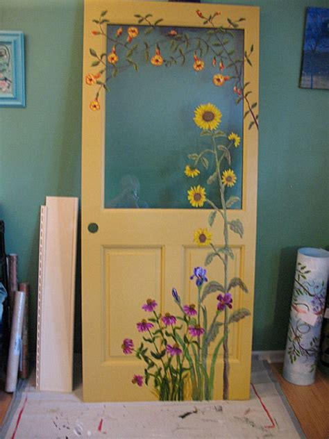 kate ladd s the blue heron studio painted door