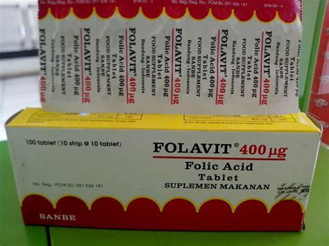 Tablet Folavit jual folavit 400 vitamin suplemen asam folat ibu apotik deka farma