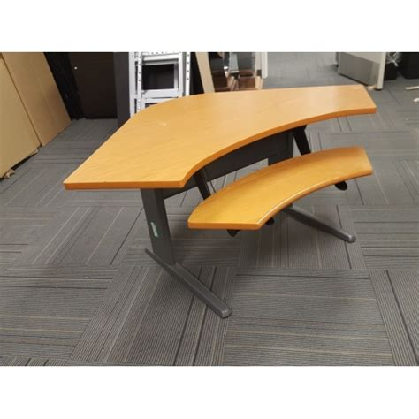 adjustable height corner desk teknion sit stand height adjustable corner desk w keyboard