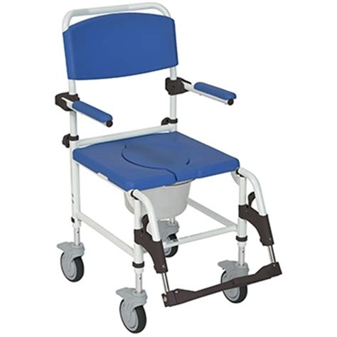 Used Commode Chair - drive aluminum rehab shower commode chair at