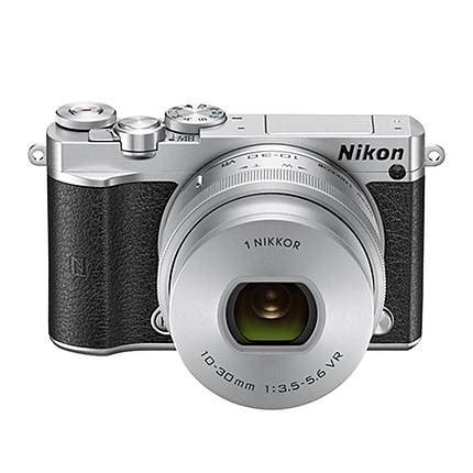 nikon 1 j5 mirrorless digital with 10 30mm and 30 110mm lenses silver mirrorless