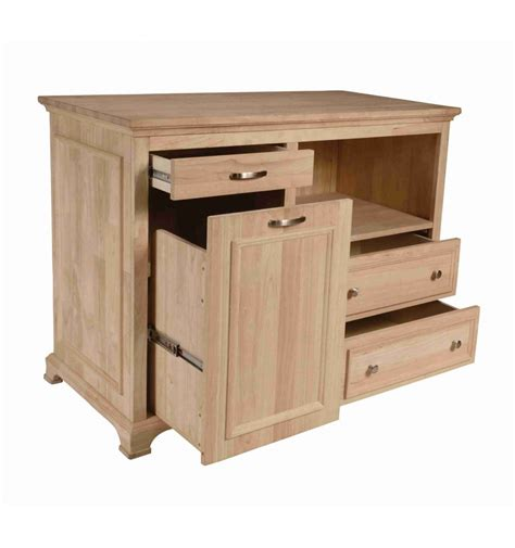 48 kitchen island 48 inch bristol kitchen island bare wood fine wood
