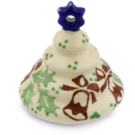 polish pottery 3 inch christmas tree ornament