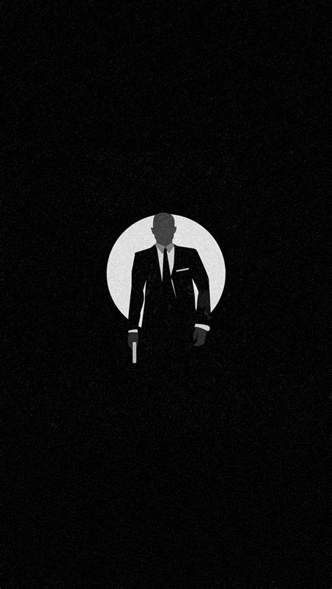 Wallpaper Iphone James Bond | james bond silhouette iphone 5 wallpaper 640x1136