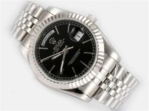 Rolex Day Date Best Edition Black Stick Clone 1 1 1 copy watches rolex day date automatic black