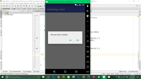 android tutorial using android studio youtube android tutorial for beginners how to use alertdialog in