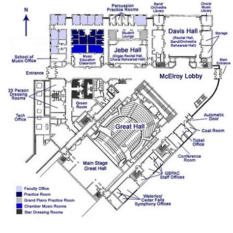 one arts plaza floor plans gallagher bluedorn performing arts center rod library