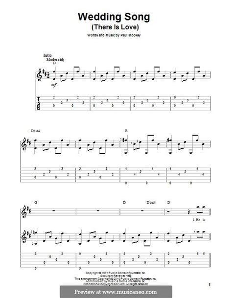 Wedding Song By Paul And by Wedding Song There Is By P Stookey Sheet