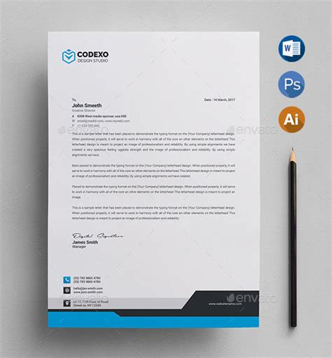 letterhead design templates psd word