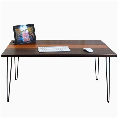 Buy A Hand Made Mid Century Modern Desk Made To Order Modern Desk