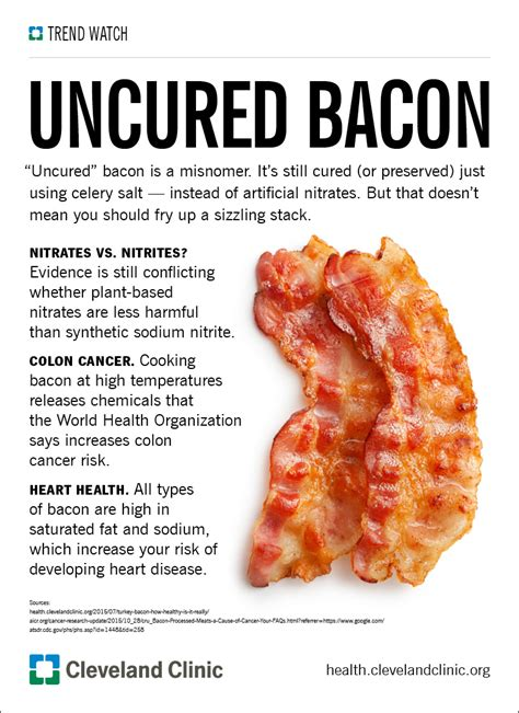 what is an uncured uncured bacon healthier or hype health essentials from cleveland clinic