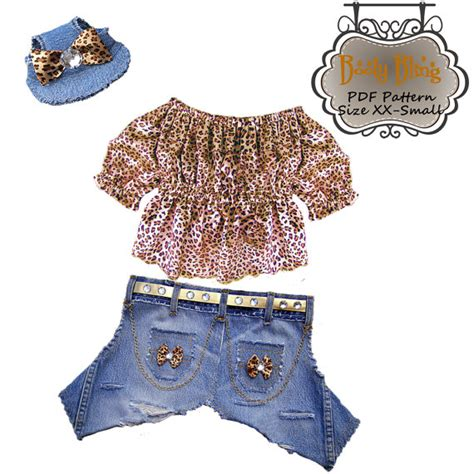 pattern for dog jeans dog clothes pattern girl bling jeans top by