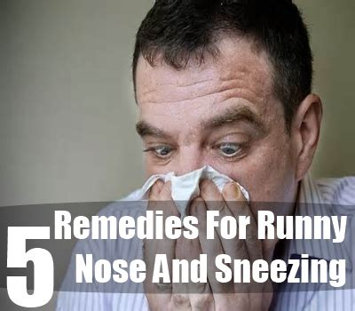 home remedies for runny nose and sneezing runny nose and