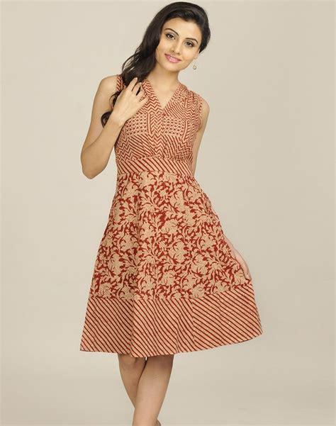 Cotton Mull Kalamkari Printed Dress Us 61 98 Http Www Fabindia Intl New Arrivals Html