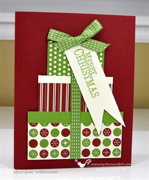 Noel Cards - present card chic n scratch
