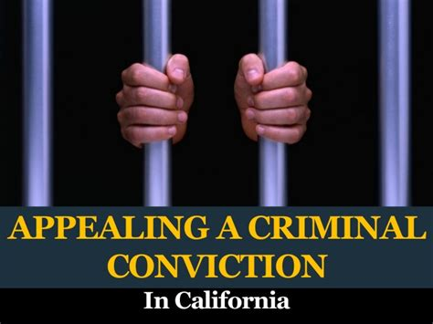 Is A Driving Conviction A Criminal Record Appealing A Criminal Conviction In California